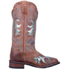 "WOMEN'S LAREDO 5671 12"" AQUARIUS TAN LEATHER WIDE SQUARE TOE BOOT"