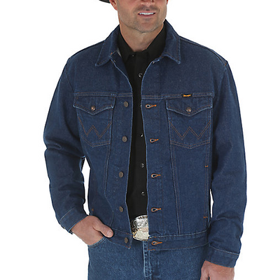 3636c991f10 Men s Wrangler Cowboy Cut Unlined Denim Jacket 74145PW  CLOSEOUT