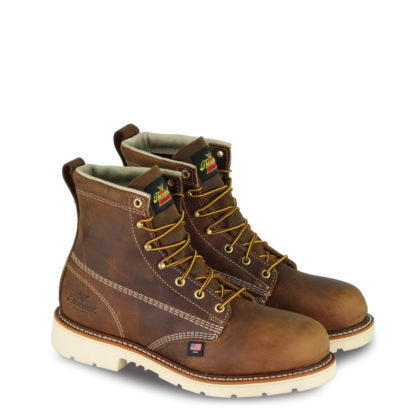 Thorogood 804-4374 AMERICAN HERITAGE – 6″ TRAIL CRAZYHORSE SAFETY TOE – PLAIN TOE MAXWEAR90™