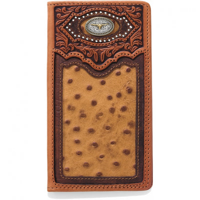 Silver Creek E80435 Cattle Driven Checkbook Wallet