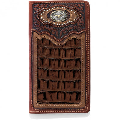 Silver Creek E80438 Cattle Driven Checkbook Wallet