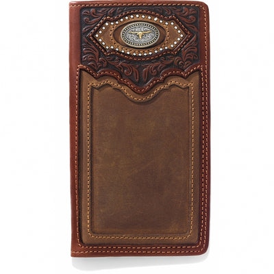 Silver Creek E80439 Cattle Driven Checkbook Wallet