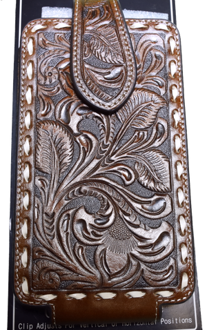 Ariat A0601902 Brown Floral Embossed Cell Phone Case