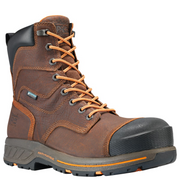 "TIMBERLAND PRO® TB0A1RW4214 Men's 8"" HELIX HD COMP TOE WATERPROOF BROWN"