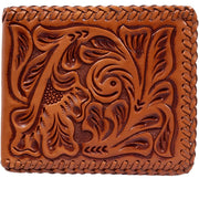 3D AW117 Natural Western Bifold Wallet