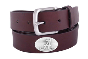 Zep-Pro Over-Sized Alabama Brown Leather Belt