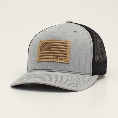 Ariat A300015906 SNAP BACK USA FLAG PATCH GREY