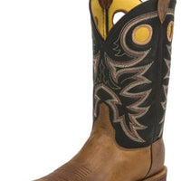 "Justin BR740 Caddo Bent Rail® 11"" Tobacco Cowhide Wide Square Toe"