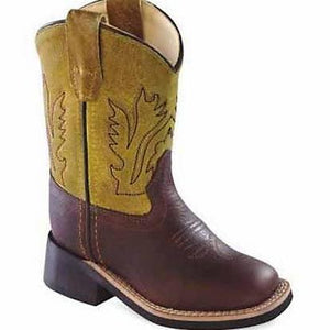 OLD WEST BSI1871 INFANT RUST WIDE SQUARE TOE
