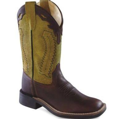 OLD WEST BSY1871 YOUTH RUST WIDE SQUARE TOE