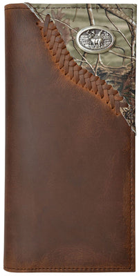 Badger Western Mens Wallet Camo Inlay Rodeo Brown BW462