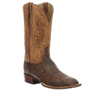 "Lucchese Carrington CL1070.W8 12"" Cognac & Peanut Brittle Elephant Wide Square Toe (Limited Stock) *CLOSEOUT*"