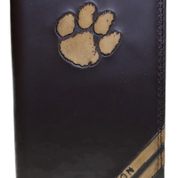 Zep-Pro IWD4BRW-Clemson Tigers Tall Debossed Brown Leather Wallet
