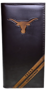 Zep-Pro IWD4BRW-UTX Texas Longhorns Tall Debossed Brown Leather Wallet
