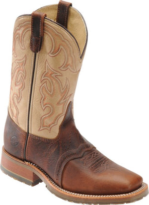 "Double H Boot Graham DH5305 Men's 11"" Domestic Bison Wide Square Steel Toe ICE™ Roper"