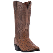 "Dan Post DP2323 13"" Saddle Tan Full Quill Ostrich Foot R Toe"