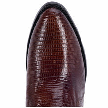 "Dan Post DP2351R 13"" Antique Tan Lizard R Toe"
