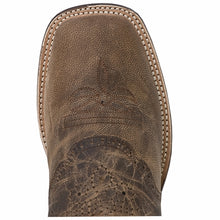"Dan Post DP2815 11"" Sand Mad Cat Leather with Black Top Wide Square Toe"