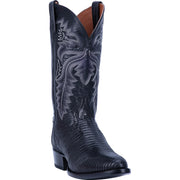 "DAN POST DP3050R 13"" WINSTON BLACK LIZARD R TOE BOOT"