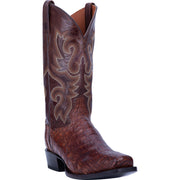 "DAN POST DP3074 13"" BAYOU BRASS CAIMAN COWBOY SQUARE TOE BOOT"