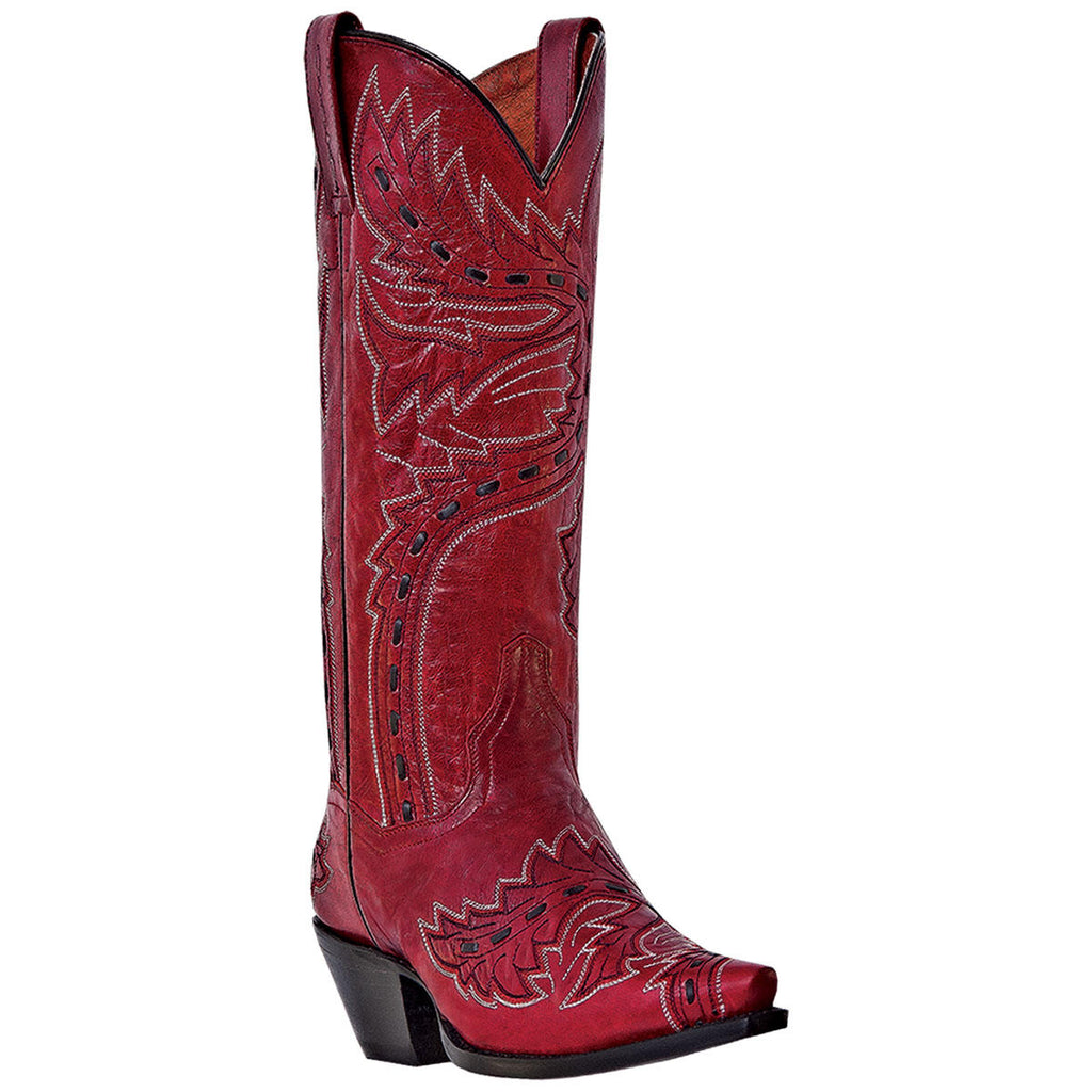 "Women's Dan Post DP3455 13"" Red Sidewinder Snip Toe"