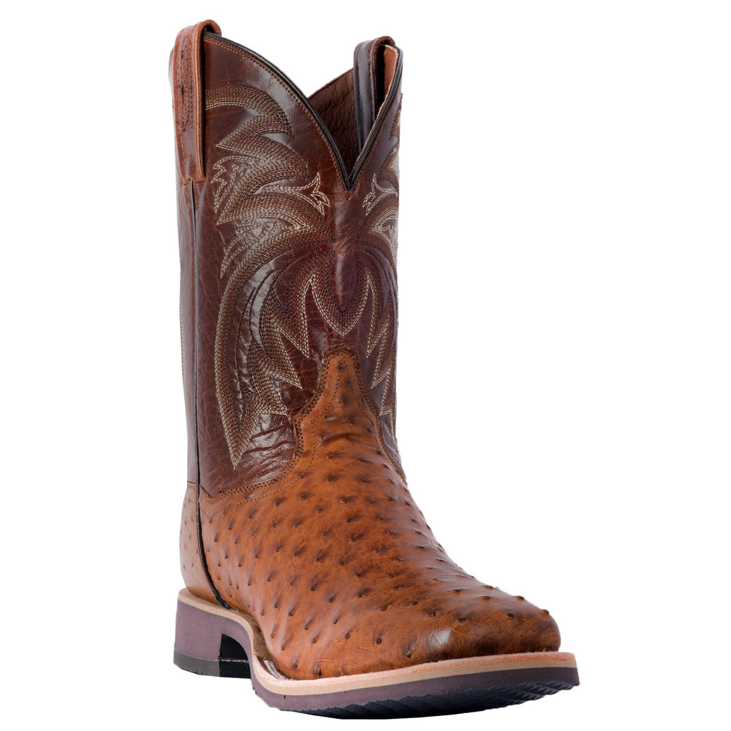 "DAN POST DP3985 11"" PHILSGOOD FULL QUILL OSTRICH WIDE SQUARE TOE BOOT"