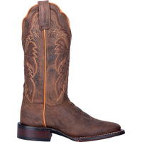 "WOMEN'S DAN POST DP4572 12"" ALEXY BROWN LEATHER WIDE SQUARE TOE BOOT"