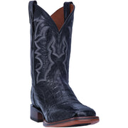 "DAN POST DP4805 11"" KINGSLY BLACK CAIMAN WIDE SQUARE TOE BOOT"