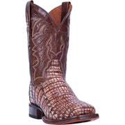 "DAN POST DP4862 11"" KINGSLY PECAN CAIMAN WIDE SQUARE TOE BOOT"