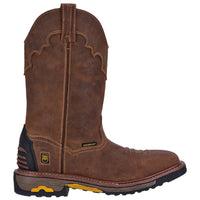 "Dan Post DP69402 11"" Saddle Tan Waterproof Wide Square Toe"