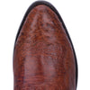 "DAN POST DPP5210 13"" COGNAC PIECED SMOOTH OSTRICH R TOE"