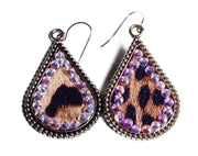 Animal Print Earring w/Crystal Accent ERZ190525-54