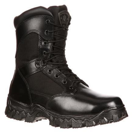 "Rocky FQ0002173 8"" AlphaForce Zipper Waterproof Duty Boot"