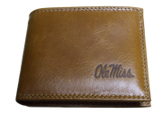 Zep-Pro IWS1TAN-OLEMISS Tan Leather Bi-fold Wallet