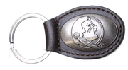 Zep-Pro KL6-BRW-FSU FLORIDA STATE Small (Crazy Horse) Oval Concho Key Chain