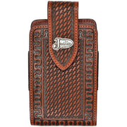 3D JBPH051 JUSTIN BROWN TOOLED BASKETWEAVE PHONE CASE