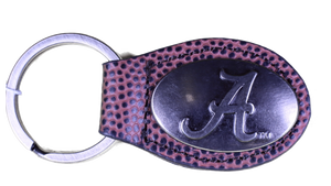 Zep-Pro KL6-FTBL-UAL Alabama Small Football Grain Oval Concho Key Chain