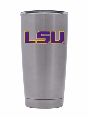 LSU 20oz. Silver Stainless Steel Tumbler