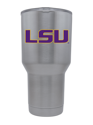 LSU 30oz. Silver Stainless Steel Tumbler