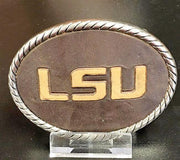 LSU Leather Debossed Buckle