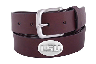Kids Zep-Pro LSU Brown Leather Belt