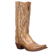 "Women's Lucchese M4999.S54 12"" Cassidy Tan Mad Dog Goat Snip Toe"
