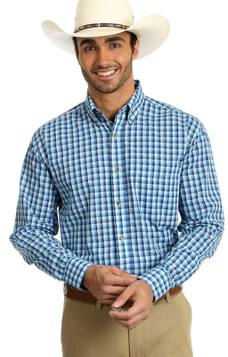 WRANGLER® MR2095A-1 RIATA® LONG SLEEVE SHIRT - BLUE MULTI
