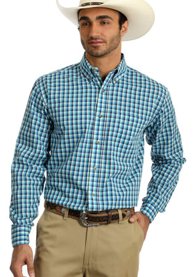 WRANGLER® MR2095A-4 RIATA® LONG SLEEVE SHIRT - BLUE MULTI