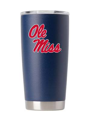 Ole Miss 20oz. Navy Stainless Steel Tumbler