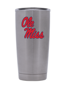 Ole Miss 20oz. Silver Stainless Steel Tumbler