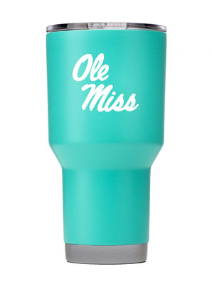 Ole Miss 30oz. Teal Stainless Steel Tumbler