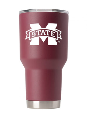 Mississippi State 30oz. Maroon Stainless Steel Tumbler