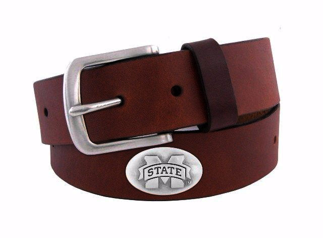 Zep-Pro Mississippi State Brown Leather Belt