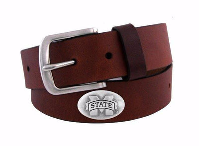 Zep-Pro Kids BOLPKBRW-MSU Mississippi State Brown Leather Belt